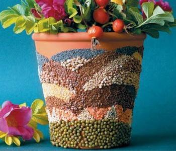 Горшки для цветов своими руками декор